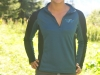 PEMBA Long Sleeve Zip-Neck Front Sea Blue
