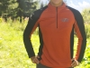PEMBA Long Sleeve Zip-Neck Front Burnt Orange
