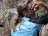 PEMBA Long Sleeve Zip-Neck Back Sky Blue